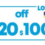 $20 OFF $100 LOWESFORPROS ONLINE/INSTORE COUPON