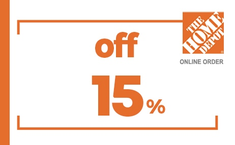 15% OFF HOME DEPOT ONLINE COUPON