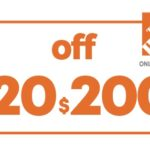 $20 OFF $200 HD HOME DEPOT ONLINE COUPON