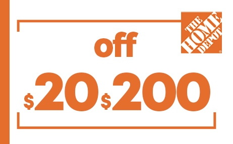 $20 OFF $200 HOME DEPOT PRINTABLE INSTORE COUPONS