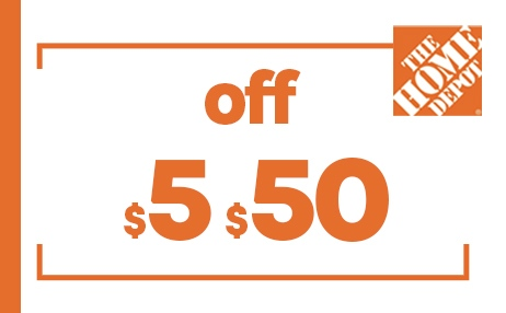 $5 OFF $50 HOME DEPOT PRINTABLE INSTORE COUPONS