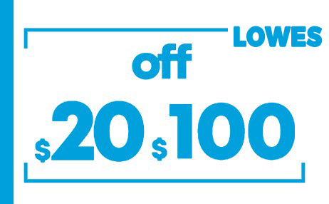 $20 off lowes instore coupons