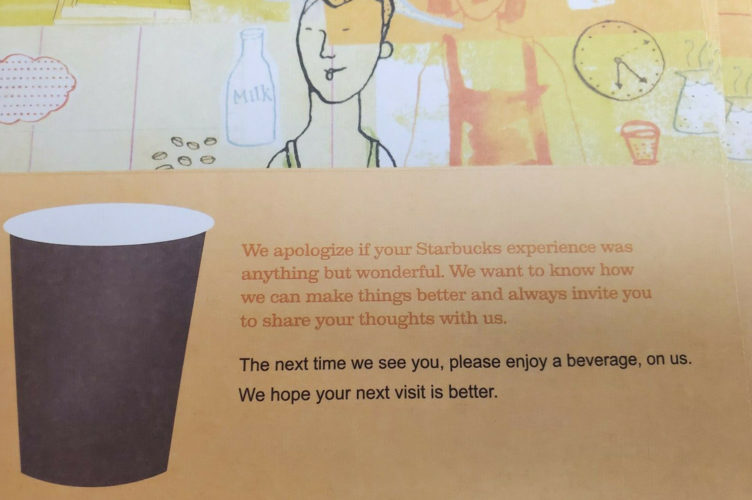 Starbucks Coffee Recovery Gift Certificate Free Drink Coupons coffee tea