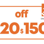 $20 OFF $150 HD HOME DEPOT ONLINE COUPON