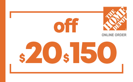 $20 OFF $150 HOME DEPOT ONLINE COUPONS