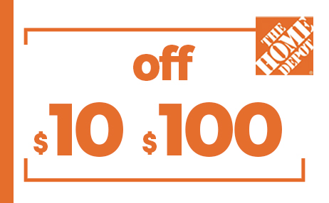 $10 OFF $100 HOME DEPOT PRINTABLE INSTORE COUPONS