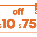 $10 OFF $75 HD HOME DEPOT PRINTABLE INSTORE COUPON